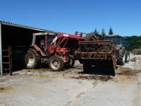 Epandage du fumier pour la fertilisation des prairies